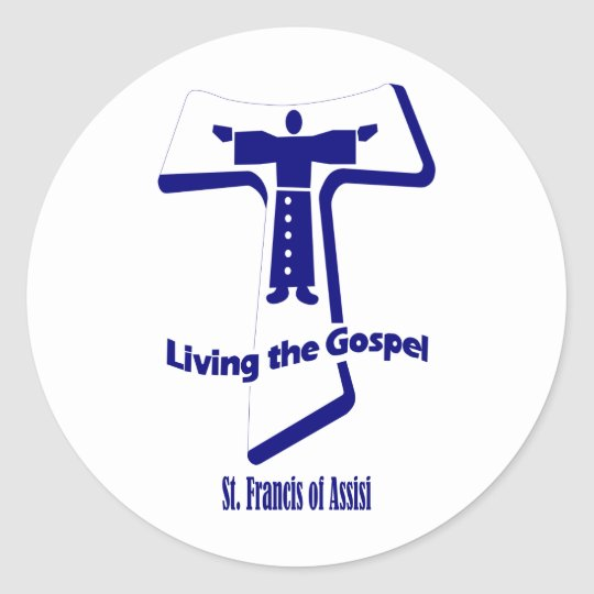 St Francis of Assisi Classic Round Sticker
