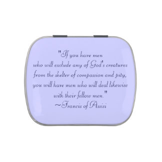 St. Francis of Assisi Compassion Quote Jelly Belly Tin