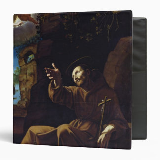 St. Francis of Assisi Consoled by an Angel Binder