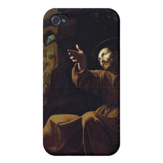 St. Francis of Assisi Consoled by an Angel Cases For iPhone 4
