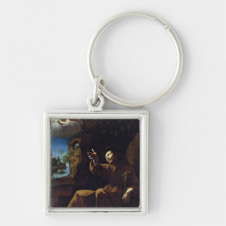 St. Francis of Assisi Consoled by an Angel Keychain