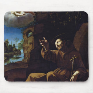 St. Francis of Assisi Consoled by an Angel Mouse Pad