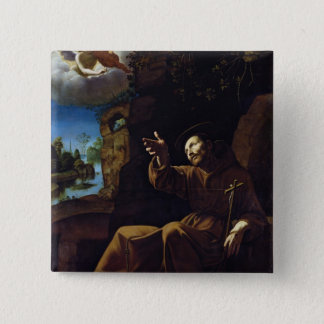 St. Francis of Assisi Consoled by an Angel Pinback Button
