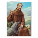 St. Francis of Assisi Greeting Card w/prayer