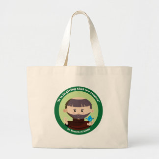 St. Francis of Assisi Large Tote Bag