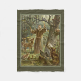 St. Francis of Assisi, lover of animals Fleece Blanket