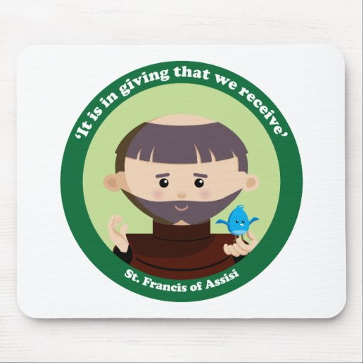 St. Francis of Assisi Mousepads
