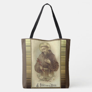 St. Francis of Assisi Patron Saint of Animals Tote Bag