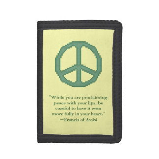 St. Francis of Assisi Peace Quote Tri-fold Wallet