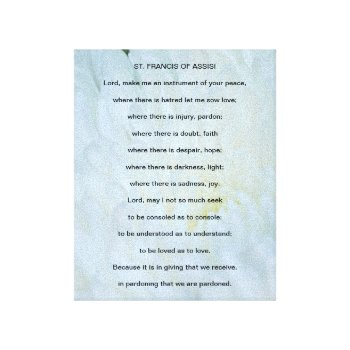 picture regarding St Francis Prayer Printable identified as Read through Merchandise At Zazzle With The Topic St Francis Assisi