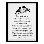 St. Francis of Assisi Prayer with Little Birds Posters
