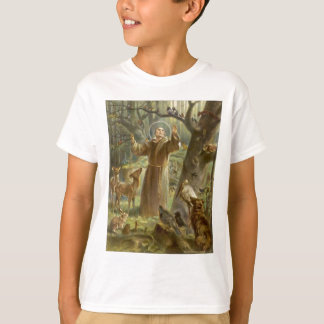 St. Francis of Assisi Preaching to the Animals T-Shirt