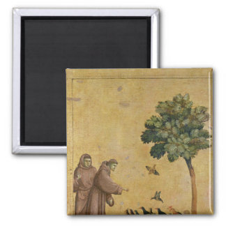 St. Francis of Assisi preaching to the birds 2 Inch Square Magnet