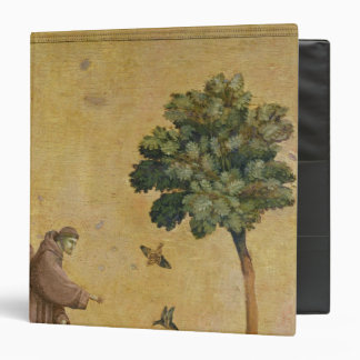 St. Francis of Assisi preaching to the birds 3 Ring Binder