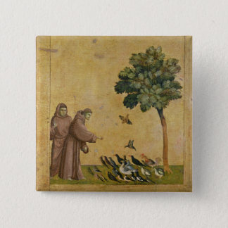 St. Francis of Assisi preaching to the birds Button
