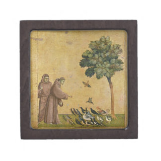 St. Francis of Assisi preaching to the birds Jewelry Box
