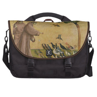 St. Francis of Assisi preaching to the birds Laptop Commuter Bag