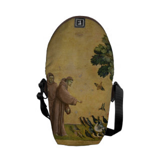 St. Francis of Assisi preaching to the birds Messenger Bag
