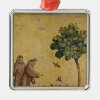 St. Francis of Assisi preaching to the birds Metal Ornament