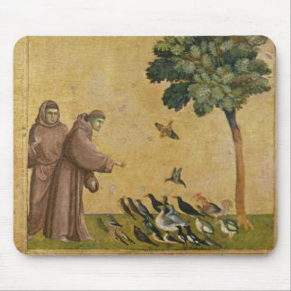 St. Francis of Assisi preaching to the birds Mouse Pad