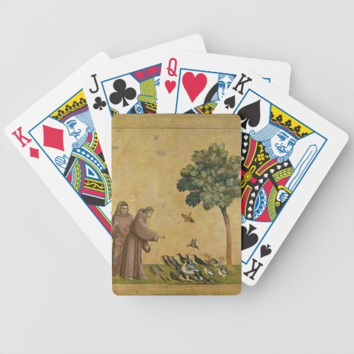 St. Francis of Assisi preaching to the birds Poker Deck