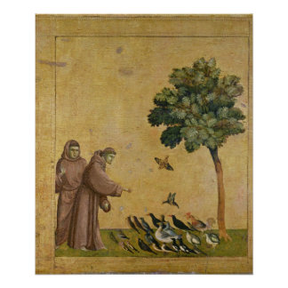 St. Francis of Assisi preaching to the birds Poster