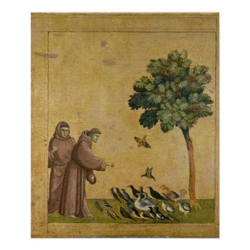 St. Francis of Assisi preaching to the birds Print