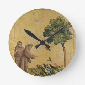 St. Francis of Assisi preaching to the birds Round Clock