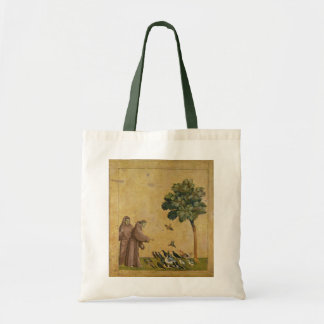 St. Francis of Assisi preaching to the birds Tote Bag