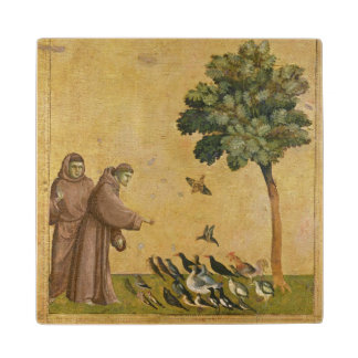 St. Francis of Assisi preaching to the birds Wood Coaster