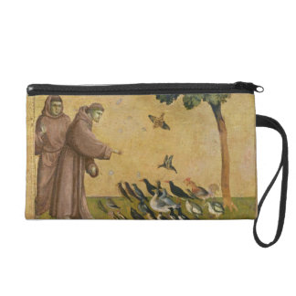 St. Francis of Assisi preaching to the birds Wristlet Purse