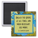 st francis of assisi quote 2 inch square magnet