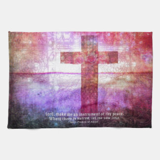 St Francis of Assisi Quote about PEACE art Towels