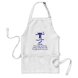 St Francis of Assisi Quote Adult Apron