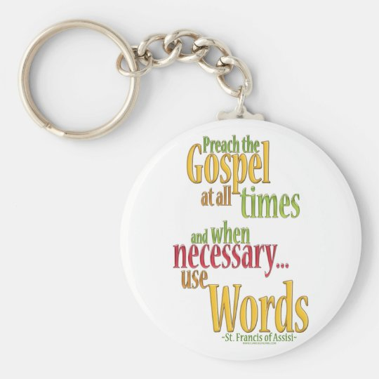 St. Francis of Assisi Quote Keychain