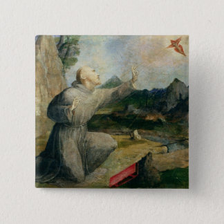 St. Francis of Assisi Receiving the Stigmata Button