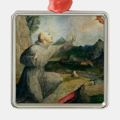 St. Francis of Assisi Receiving the Stigmata Christmas Ornaments