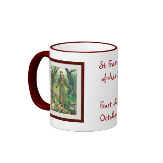 St. Francis of Assisi Ringer Coffee Mug