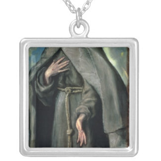 St.Francis of Assisi Silver Plated Necklace