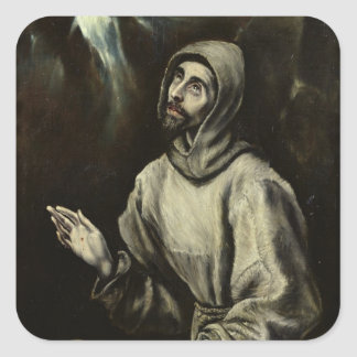 St. Francis of Assisi Square Sticker