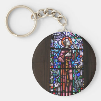 St Francis of Assisi stained glass Keychain
