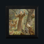 "St. Francis of Assisi Surrounded by Animals Gift Box<br><div class=""desc"">St. Francis of Assisi Preaching to the Animals - Hans Stubenrauch</div>"
