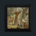 """St. Francis of Assisi Surrounded by Animals Gift Box<br><div class=""""desc"""">St. Francis of Assisi Preaching to the Animals - Hans Stubenrauch</div>"""