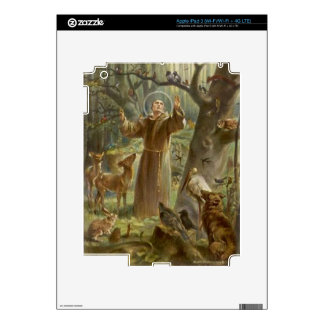 St. Francis of Assisi Surrounded by Animals iPad 3 Skin