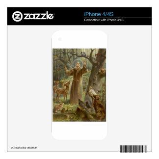 St. Francis of Assisi Surrounded by Animals Skins For The iPhone 4S