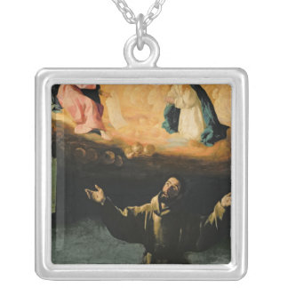 St. Francis of Assisi,The Miracle of the Roses Silver Plated Necklace
