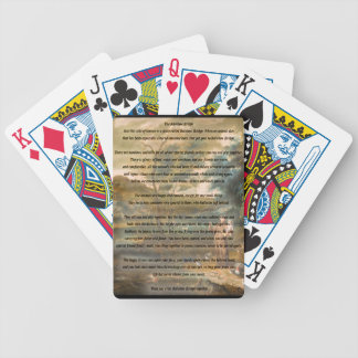 St. Francis of Assisi & The Rainbow Bridge Bicycle Playing Cards