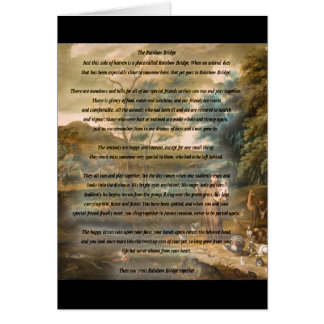 St. Francis of Assisi & The Rainbow Bridge Greeting Card