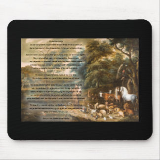 St. Francis of Assisi & The Rainbow Bridge Mouse Pad