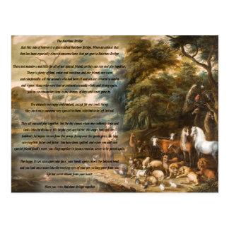 St. Francis of Assisi & The Rainbow Bridge Postcard